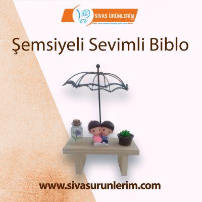Şemsiyeli Sevimli Biblo