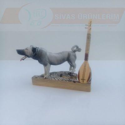 Kangal Köpekli Sazlı Biblo