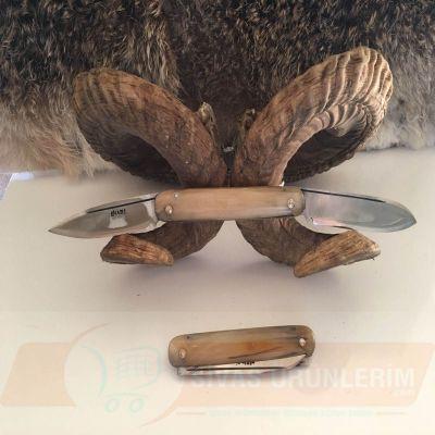 Çift Açılır Boynuz Saplı Bıçak