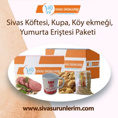Sivas Köftesi, Kupa, Köy ekmeği, Yumurta Eriştesi Paketi