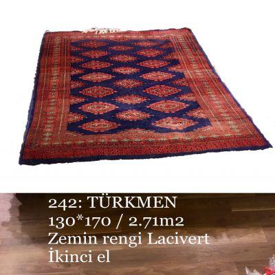 Türkmen El Dokuma Halısı 242