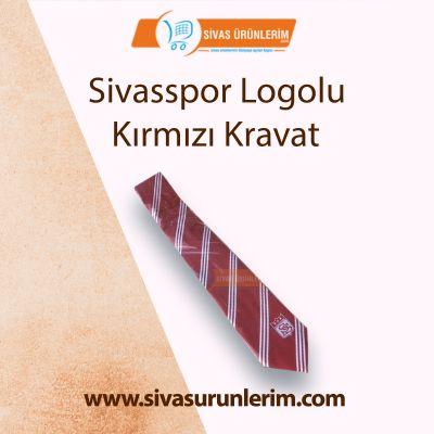 Sivasspor Logolu Kırmızı Kravat